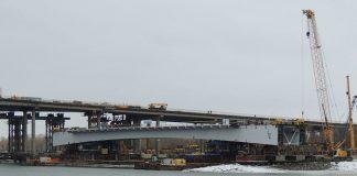 Центральный пролет новой секции Ворошиловского моста