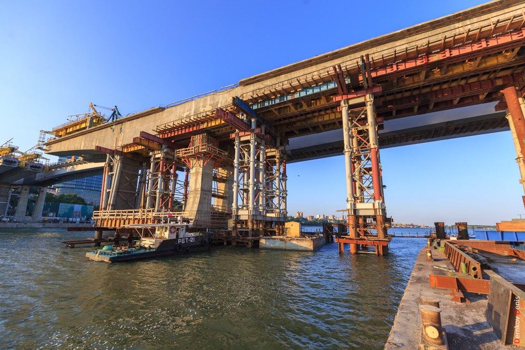 ВРостове начался подъем центрального пролета Ворошиловского моста
