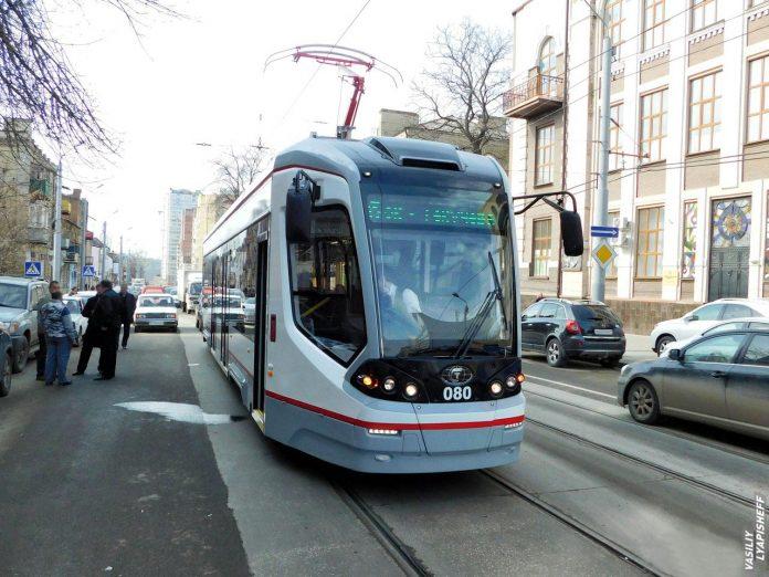 Новый ростовский трамвай //Фото: Василий Лапищев