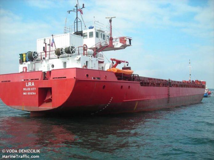 Сухогруз Lira//Фото: Voda Denizcilik, Marinetraffic.com