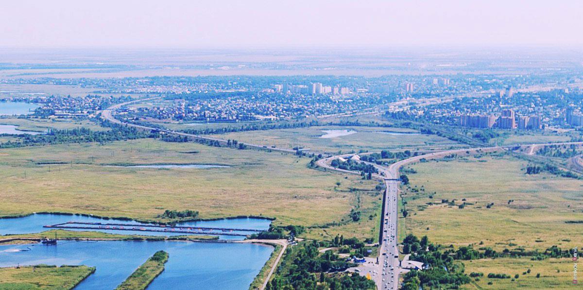 Панорама Батайска и южный въезд в Ростов-на-Дону //Фото: Дмитрий Демков
