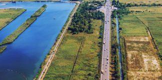 Гребной канал, южный въезд и пойма Дона //Фото: Денис Демков