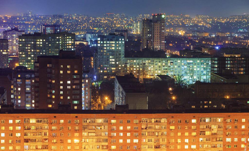 Ростов-на-Дону ночью //Фото: Денис Демков