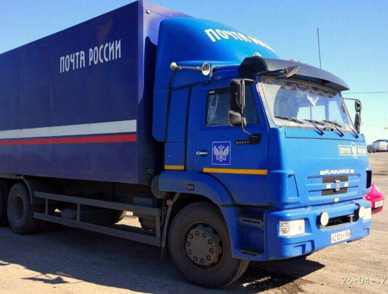 «КамАЗ» слоготипом «Почты России» нелегально перевозил спирт вРостовской области
