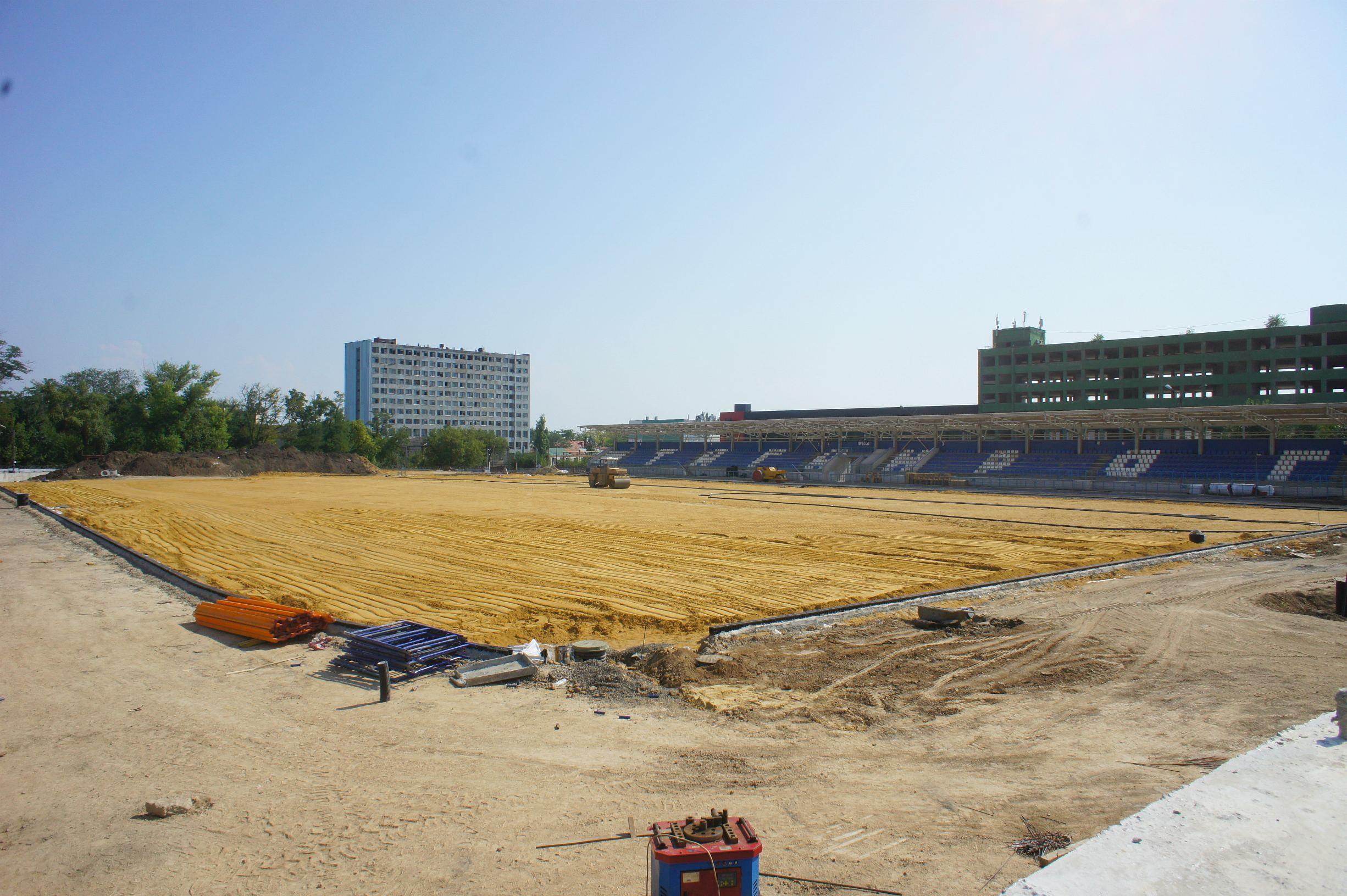 ВТаганроге горел стадион «Торпедо», который реконструируют кЧМ