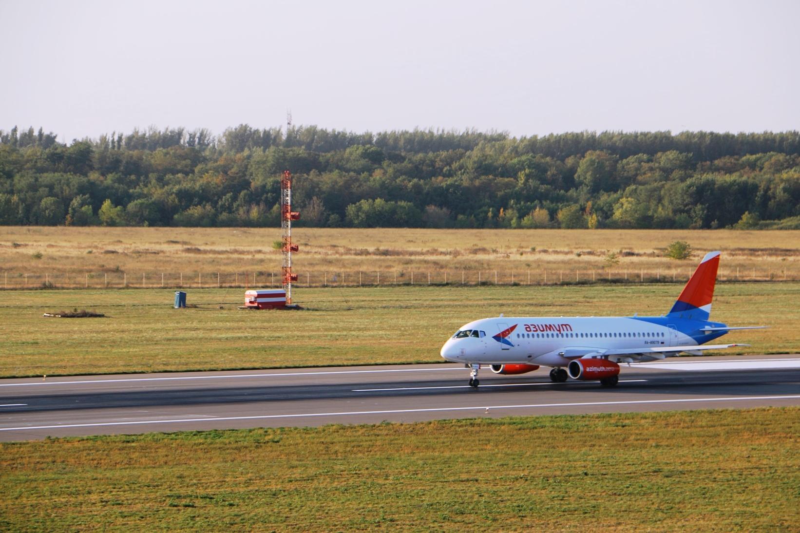 Изростовского аэропорта отправился 1-ый постоянный рейс авиакомпании «Азимут»