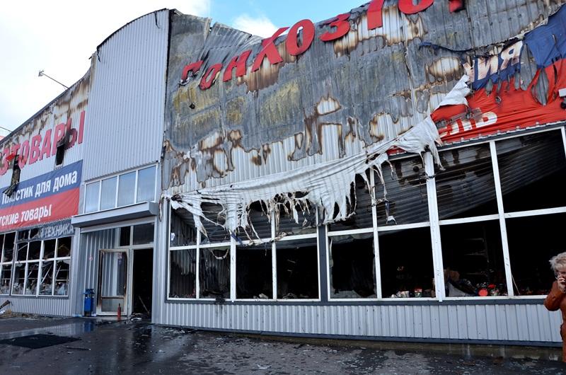 Сгоревший нарынке «Атлант» вРостове павильон восстановят