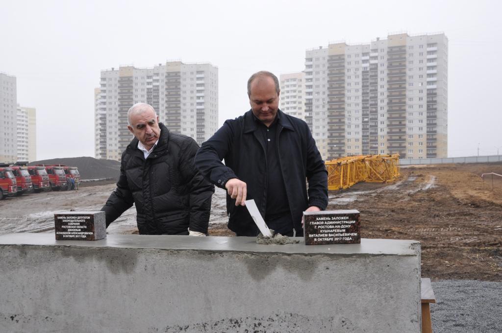Вмикрорайоне Суворовский заложили первый камень школы на1,3 воспитанников