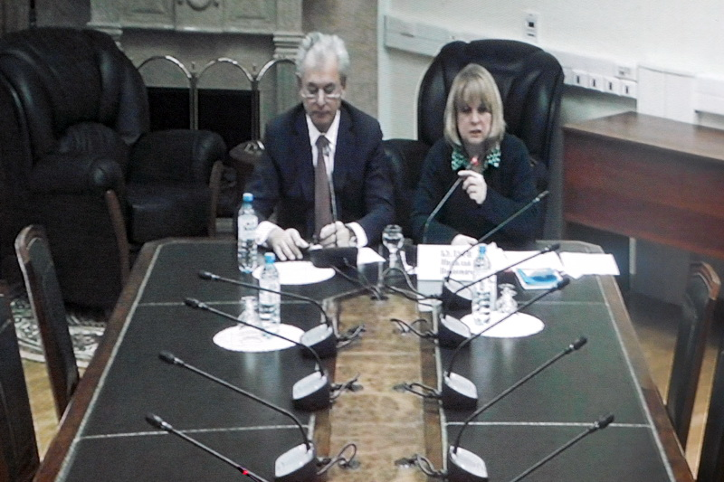 Элла Памфилова и Николай Булаев //Фото: Избирательная комиссия Ростовской области