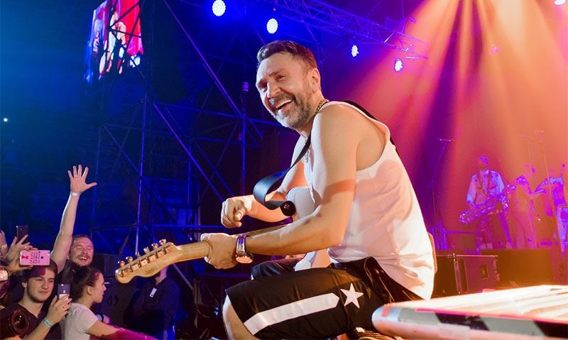Сергей Шнуров во время концерта //Фото предоставлено пресс-службой компании