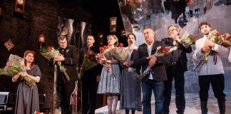 Актеры спектакля «Сталин. Часовщик. Исповедь с трибуны мавзолея»//Фото: Екатерина Серебрякова