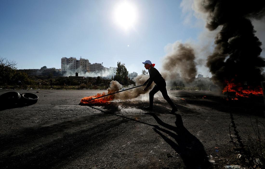 ВИерусалиме задень протестов пострадали неменее ста палестинцев
