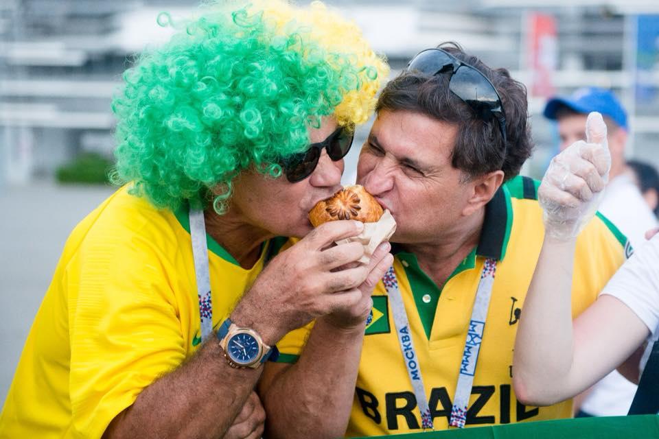 Бразильские болельщики на фестивале STREET FOOD в Ростове //Фото: Facebook