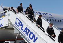 Прибытие сборной Уругвая по футболу в аэропорт Платов //Фото пресс-службы международного аэропорта Платов