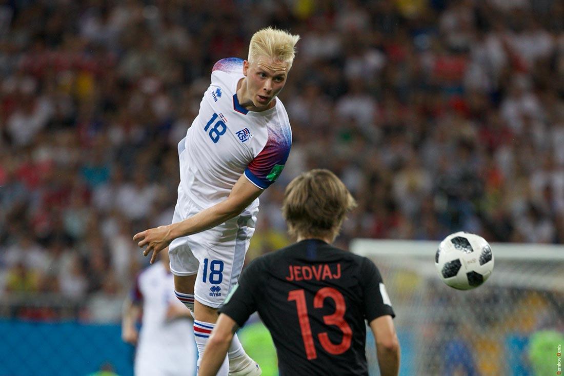 Матч Исландия - Хорватия на стадионе
