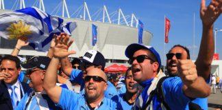 Болельщики сборных Уругвая и Саудовской Аравии на площади перед стадионом «Ростов-Арена» //Фото: Денис Демков