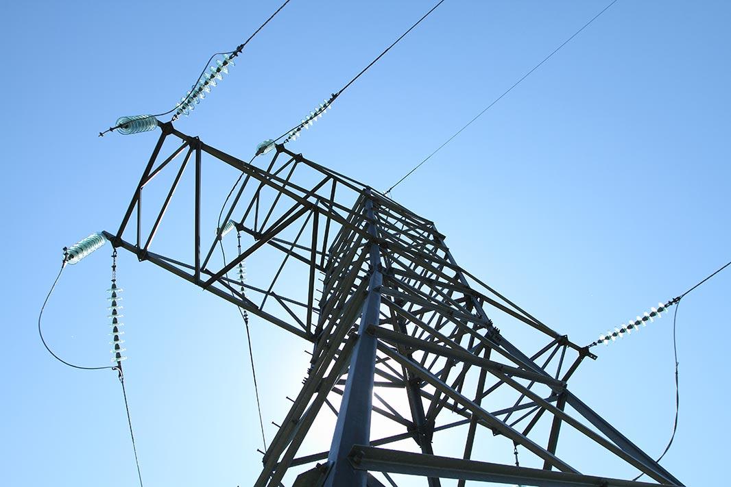 Опора высоковольтной линии передачи //Фото предоставлено пресс-службой ПАО