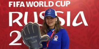 Волонтер ЧМ-2018 Лиза Залепилова //Фото из архива героя интервью