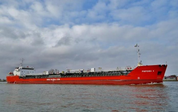 Судно «Риройл-5» компании Palmali Group //Фото: Marine Traffic