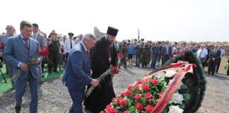 Церемония перезахоронения останков советских войнов на Самбекских высотах //Фото пресс-службы Губернатора Ростовской области