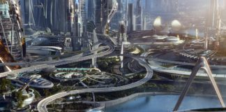 "Картина Джеффри Курланда ""Вперед в будущее"" //Фото с сайта livingly.com"