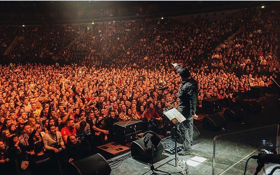 Концерт Басты на стадионе //Фото из Instagram Василия Вакуленко