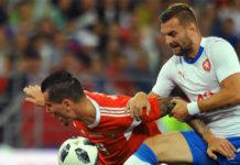 Эпизод матча между сборными России и Чехии //Фото: sports.ru