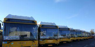 Новые автобусы для маршрута 94 и 96//Фото: пресс-служба АРТТ