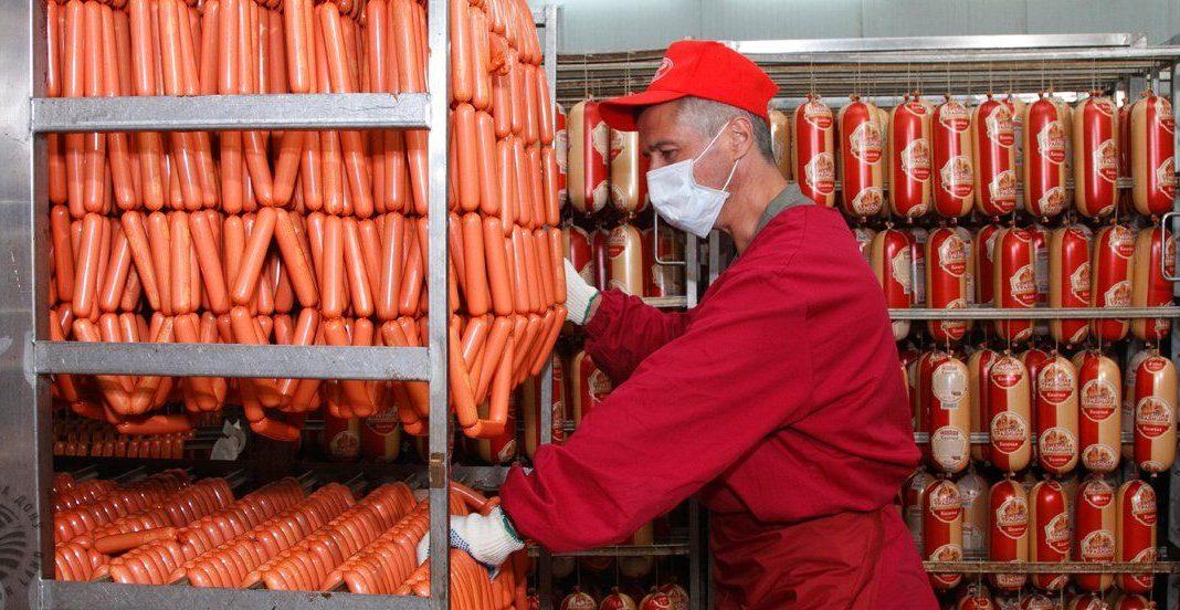 Производственный процесс на мясоперерабатывающем заводе