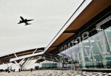 Площадь перед терминалом аэропорта Платов в Ростове-на-Дону //Фото из профиля в инстаграм annette_savina