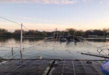 В Ростове затонул понтонный мост на Зеленый остров //Фото: ВКонтакте