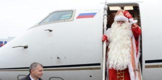 "Дед Мороз на борту ""Победы""//Фото: Life.ru"