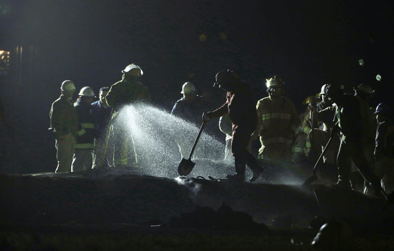 Взрыв на трубопроводе в Мексике//Фото: AP Photo/Claudio Cruz