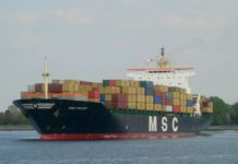 Контейнеровоз MSC Mandy //Фото с сайта shipspotting.com