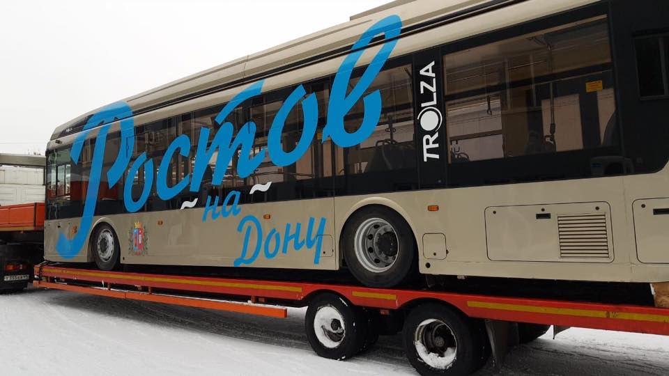 В Ростов на испытания доставили новый троллейбус //Фото: