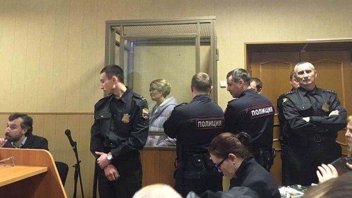 Анастасия Шевченко во время суда //Фото: Никита Королев, Коммерсант-юг