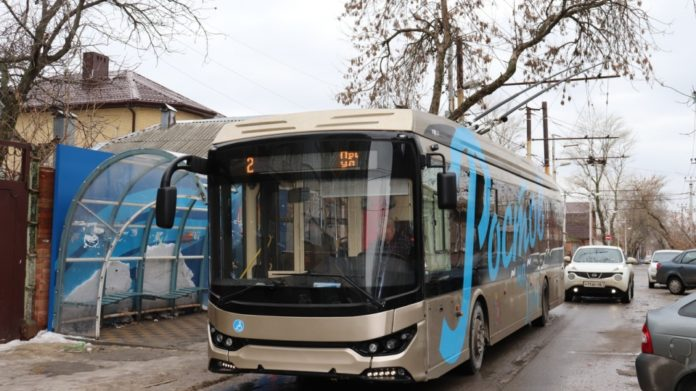 Троллейбус «Троллза Мегаполис» //Фото: МУП МТК