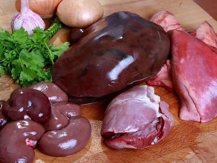 Субпродукты, мясо//Фото: сайт mrbit.spb.ru