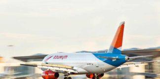 Лайнер авиакомпании «Азимут» во время взлета //Фото с сайта mycdn.me
