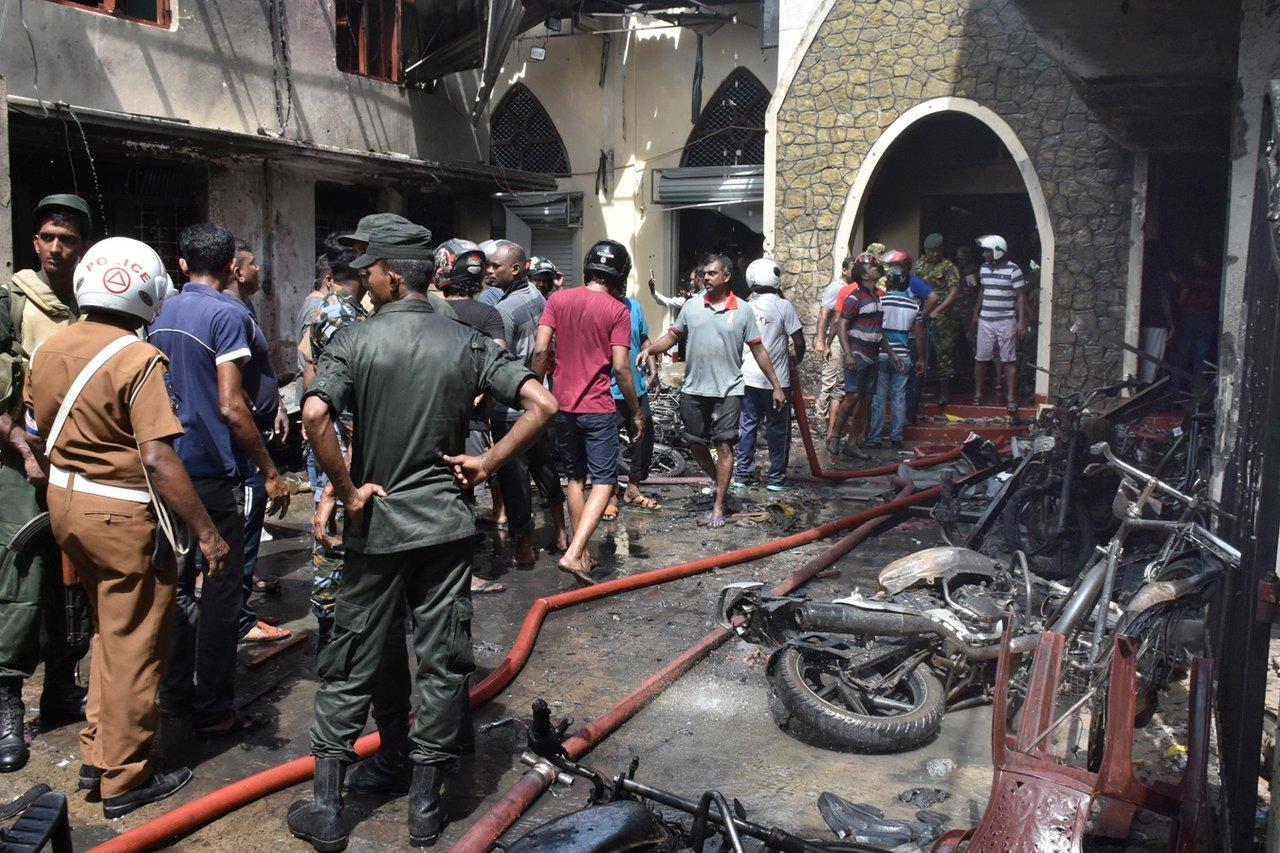 Взрыв на Шри-Ланке//Фото: ya62.ru