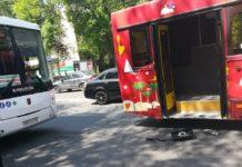 В Ростове столкнулись два автобуса //Фото из паблика «Ростов Главный» в соцсети ВКонтакте