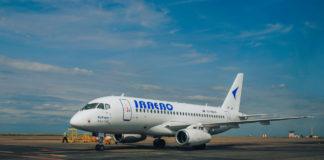 "Суперджет SSJ 100 авиакомпании ""ИрАэро"" //Фото с сайта redtram.ru"