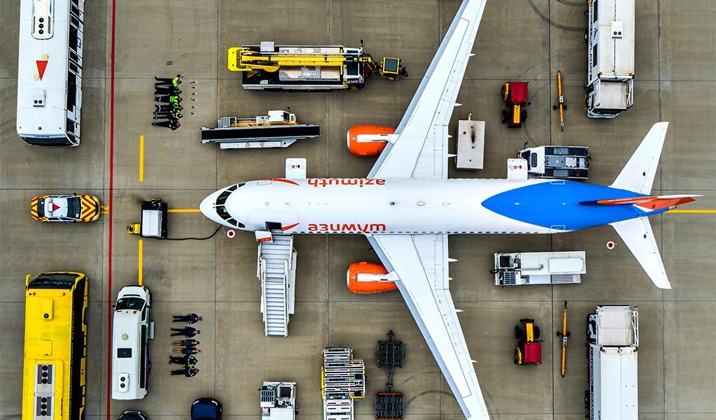 Авиакомпания Azimuth поучаствовала в #tetrischallenge //Фото: пресс-служба авиакомпании