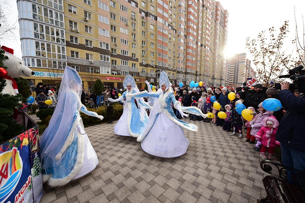 В «Красном Аксае» прошел большой новогодний праздник от «ЮгСтройИнвест» //Фото: «ЮгСтройИнвест»