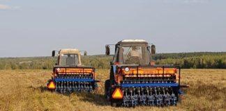 Сеялка, созданная специально для хозяйств, переходящих или работающих по технологии бинарных посевов в системе NO-TILL //Фото: Гарантийный фонд Ростовской области