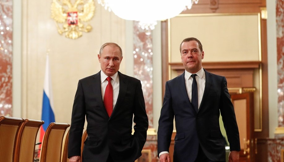 Владимир Путин и Дмитрий Медведев //Фото с сайта arbuztoday.ru
