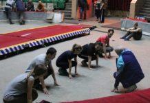 В Ростове состоялся первый мастер-класс по цирковой акробатике для журналистов ростовских изданий //Фото: агентство Brandhouse