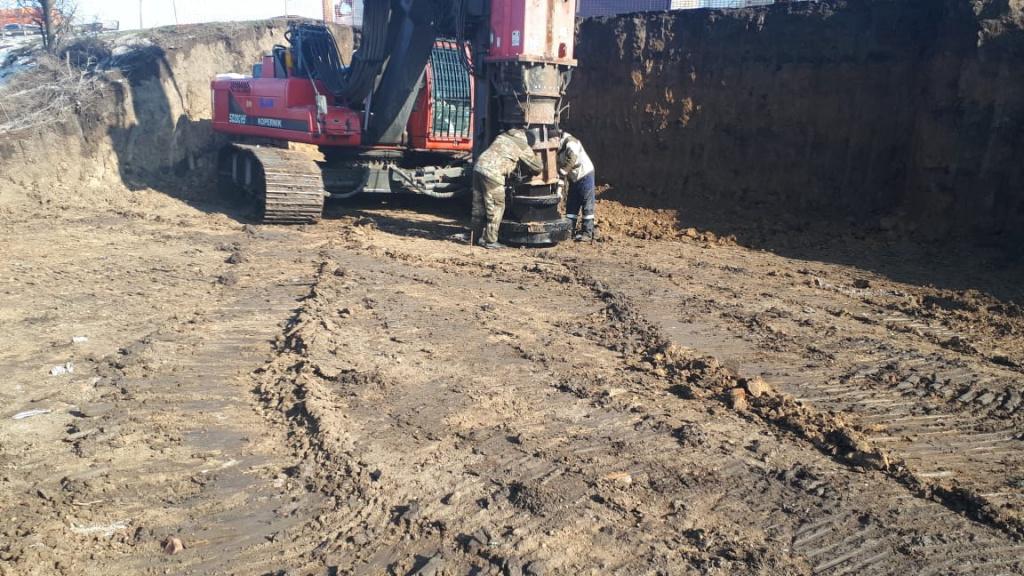 Строительство путепровода на улице Малиновского//Фото: администрация Ростова