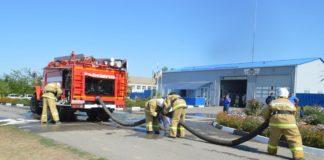 Пожарная часть в Сальском районе//Фото: правительство РО