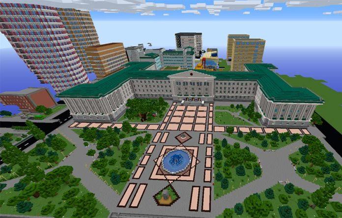 Кампус ДГТУ в игре Minecraft //Фото: пресс-служба ДГТУ